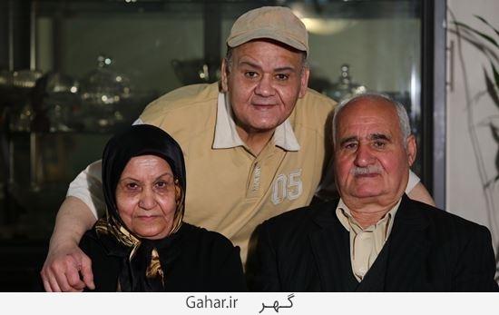 akbar abdi father اکبر عبدی به سوگ پدر نشست / عکس