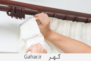 how to wash curtain with rings3 خانه تکانی : آموزش شستن انواع پرده
