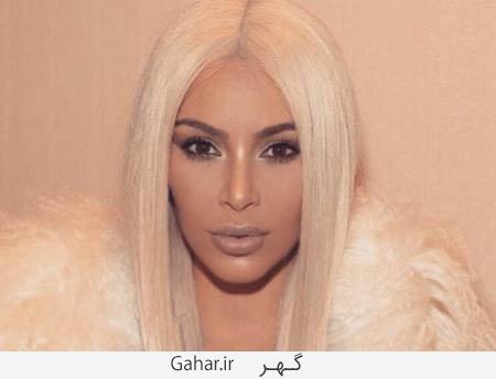kimkardashian1 عکس های متفاوت و جدید کیم کارداشیان با موهای بلوند