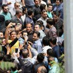صحنه های زشت در مراسم ختم مهرداد اولادی در تهران