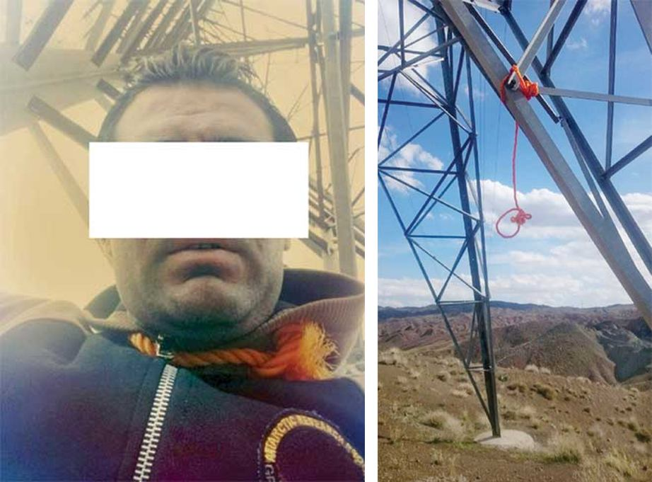 4509897 768 1 یک ایرانی قبل خودکشی با طناب دار سلفی گرفت! عکس