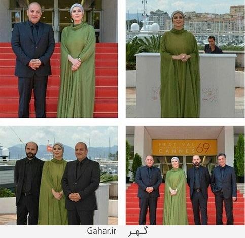 865806 288 تبریک هومن سیدی به سحر دولتشاهی به خاطر لباسش در کن