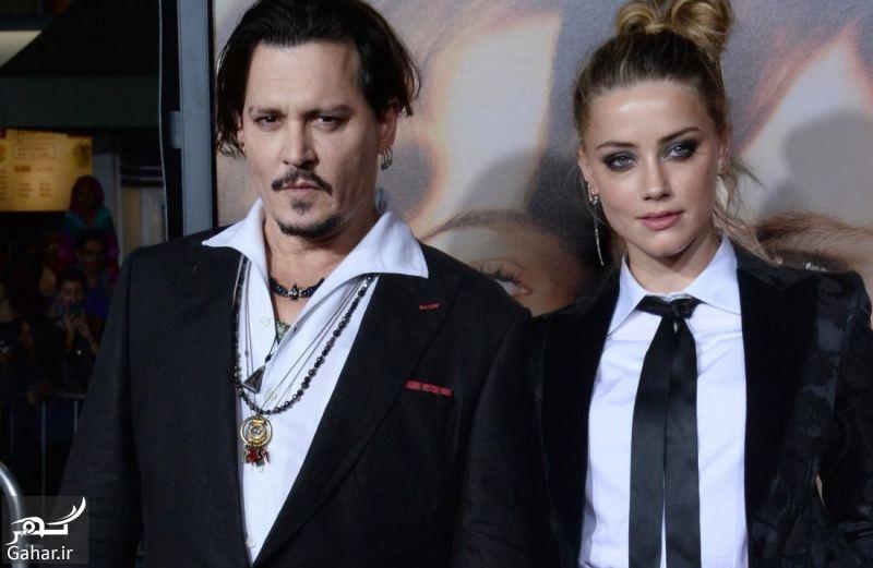 Johnny Depp wife Amber Heard جدایی بازیگر معروف از همسرش ؛ عکس