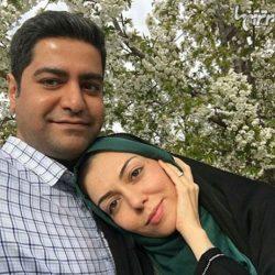 عکس عاشقانه آزاده نامداری و همسرش در فضای باز