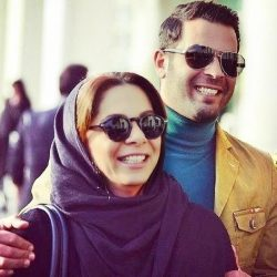 عکس پژمان بازغی به همراه همسر و دخترش در اکران بارکد