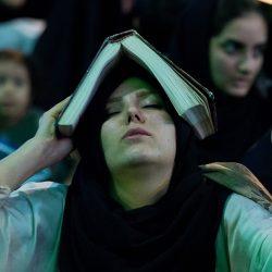 گزارش تصویری حضور زنان و دختران در شب قدر