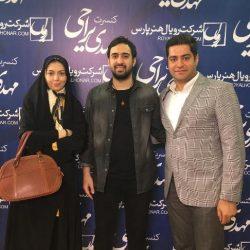 عکس های آزاده نامداری و همسرش در کنسرت مهدی یراحی