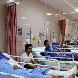 عکس های سربازان مصدوم حادثه تلخ سقوط اتوبوس
