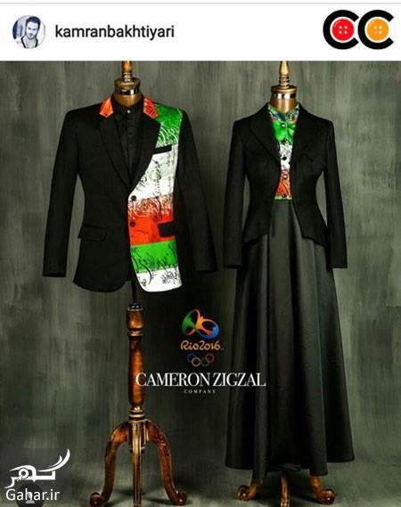 930664 618 عکس: طرح های پیشنهادی طراحان لباس برای لباس کاروان المپیک