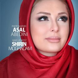 عکس جدید نیوشا ضیغمی در حال تبلیغ کرم های آرایشی