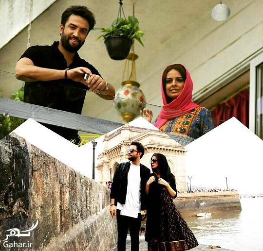 عکس هنری بنیامین بهادری و همسرش روی صفحه موبایل!, جدید 1400 -گهر
