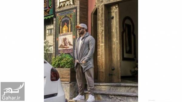 عکس جدید محمدرضا گلزار جلوی رستورانش, جدید 1400 -گهر