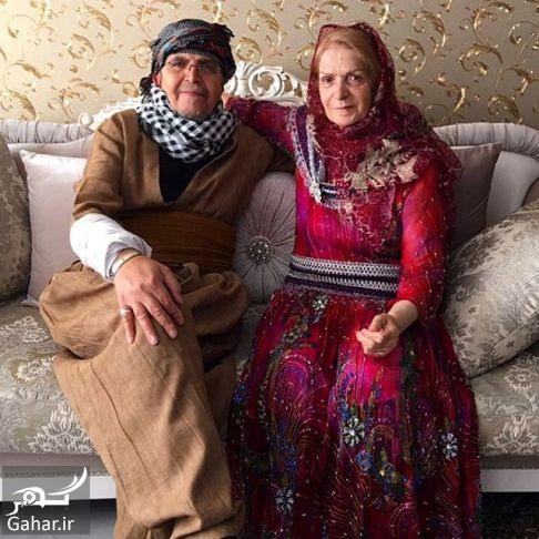 behnoushtabatabai 15 پدر و مادر بهنوش طباطبایی با لباس کردی + عکس
