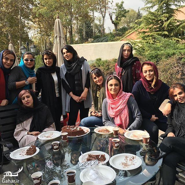 linda kiani bashgahe enghelab عکس دسته جمعی بازیگران زن در باشگاه انقلاب