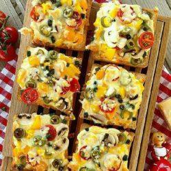 دستور تهیه پیتزا با نان تست ؛ پیتزای فوری