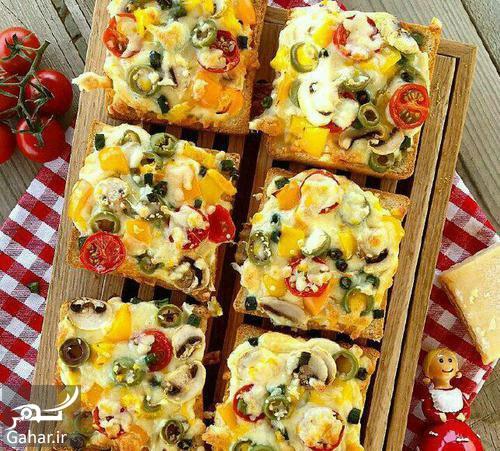 1069410 155 دستور تهیه پیتزا با نان تست ؛ پیتزای فوری