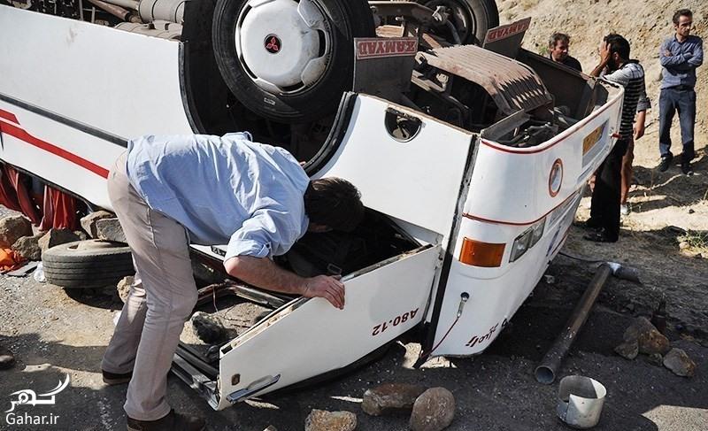 otoobos 20 کشته بر اثر واژگونی اتوبوس در محور اقلید فارس