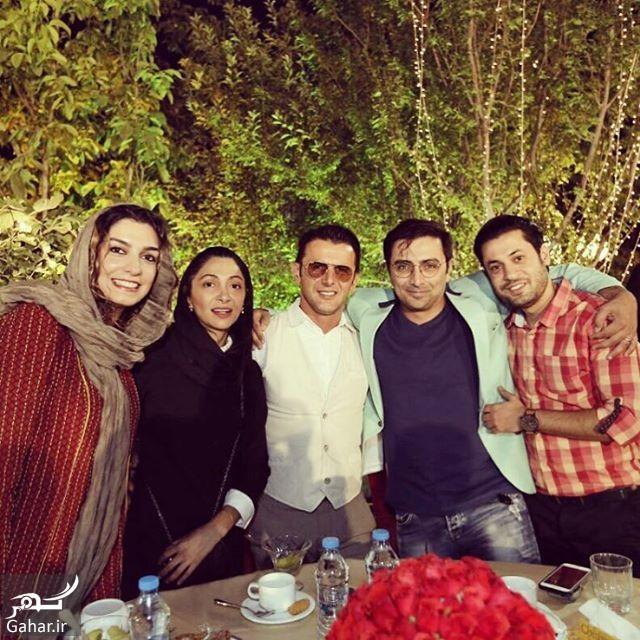 amin zendegani hayaei دورهمی امین زندگانی و امین حیایی با همسرانشان ؛ عکس