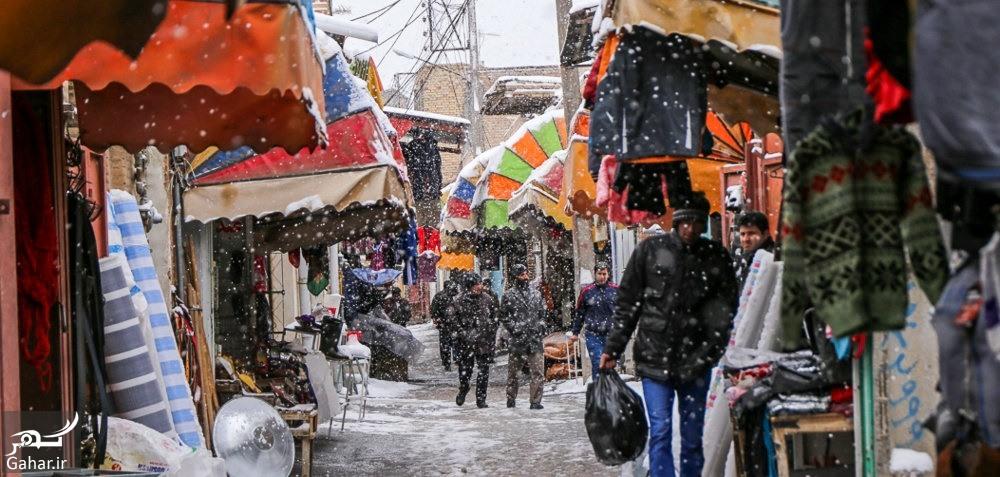 bazar ahar عکس های دیدنی از بازار اهر در یک روز برفی