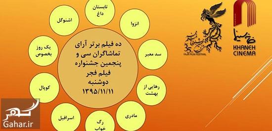 1151468 835 اعلام آرای مردمی روز اول جشنواره فجر
