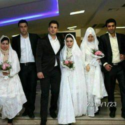 مراسم ازدواج ۳ آتش نشان شهید پلاسکو؛ عکس