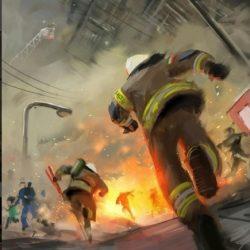 ابراز همدردی هنرمندان با آتش نشانان فداکار پلاسکو+عکس