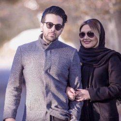 سلفی آقای خواننده با همسرش در کافه روباز / عکس