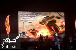 mohsenyegane ادای احترام محسن یگانه به آتش نشانان حادثه پلاسکو در کنسرتش