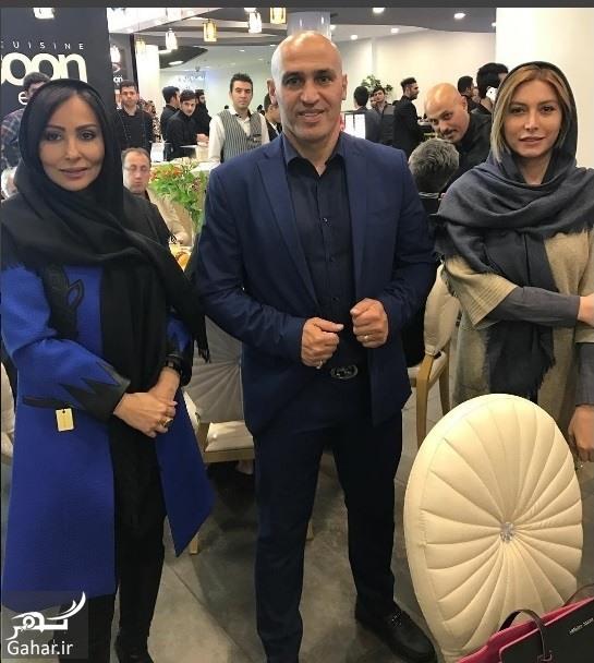 salehi parasto mansoorian بازیگران خانم استقلالی در افتتاحیه رستوران منصوریان