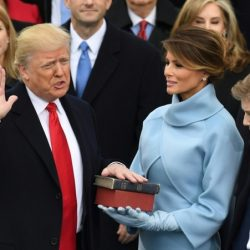 گزارش تصویری ؛ ترامپ رسما رئیس جمهور آمریکا شد و سوگند یاد کرد