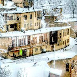 """تصویر زیبای برفی از شهر ماسوله """"گیلان"""""""