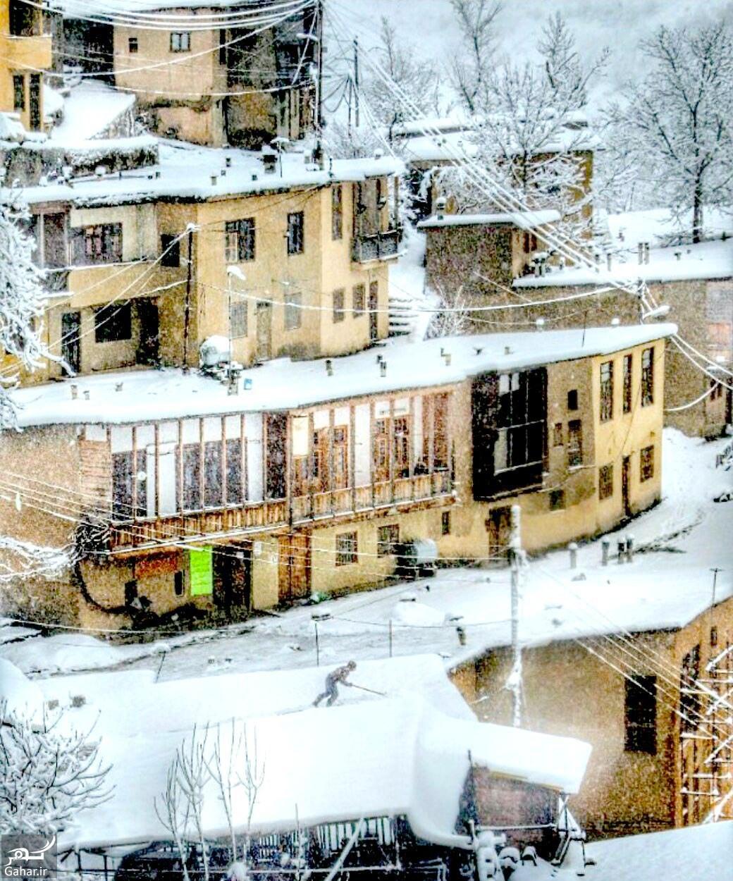 474157 476 تصویر زیبای برفی از شهر ماسوله گیلان