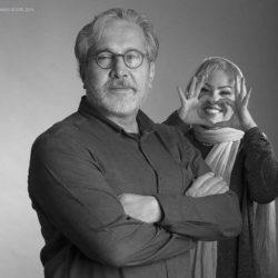 عکس عاشقانه افسانه چهره آزاد به همراه همسرش