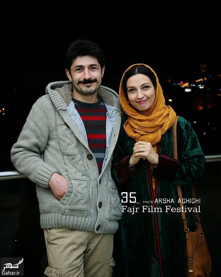 BQLNPzAhDb7 عکس های هنرمندان و همسرانشان در سی و پنجمین جشنواره فجر