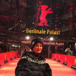 عکس جدید الهام حمیدی در جشنواره برلین