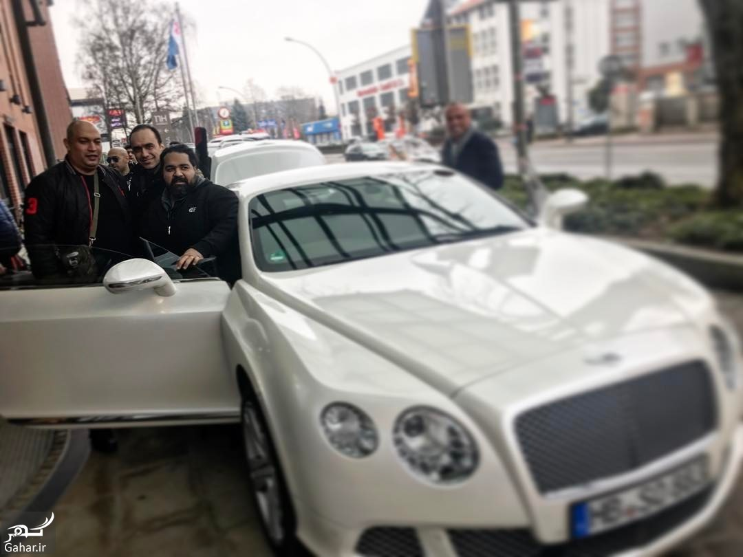 BQkuzlfl4Oh بنتلی سواری خواننده پاپ ایرانی در هامبورگ + عکس