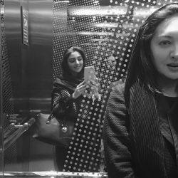 عکس های دیده نشده از نیکی کریمی و هستی مهدوی در آسانسور