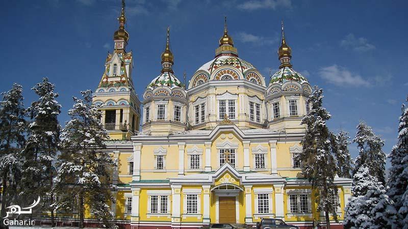 Zenkov Cathedral Winter معرفی جاذبه های گردشگری آلماتی قزاقستان