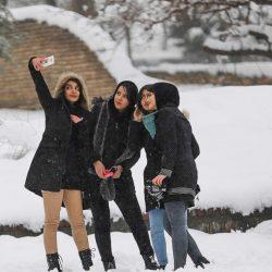 برف بازی مردم همدان در زمستان زیبا ؛ تصاویر