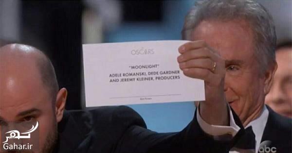 بهترین فیلم اسکار علت اشتباه در اعلام نام بهترین فیلم اسکار 2017