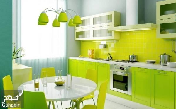 دکوراسیون آشپزخانه آموزش ترکیب رنگها در دکوراسیون آشپزخانه