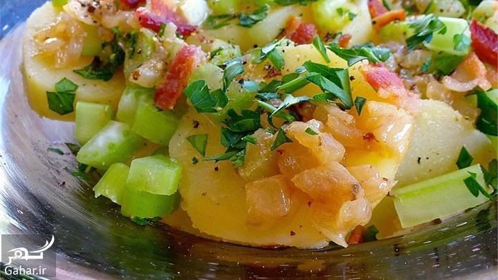 سالاد سیب زمینی دستور تهیه سالاد سیب زمینی رنگی