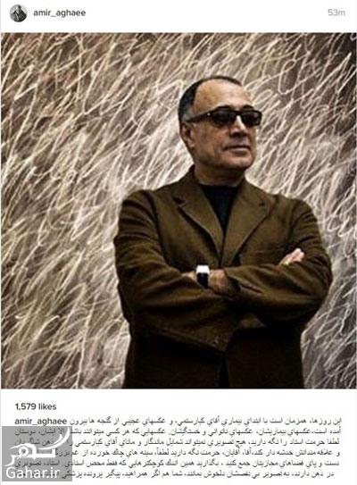 عباس کیارستمی انتقاد امیر آقایی از پخش عکس های کیارستمی
