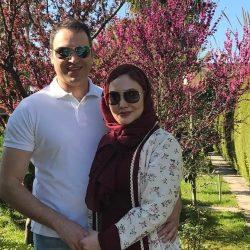 عکس دیدنی از آرام جعفری و همسرش در بهار ۹۶