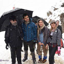 عکس/ کوه پیمایی رئیس جمهور با جوانان در تهران