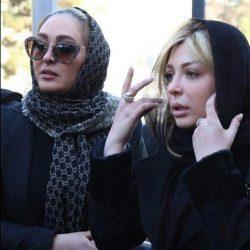 عکس های مراسم ختم پدر نیوشا ضیغمی با حضور هنرمندان + فیلم