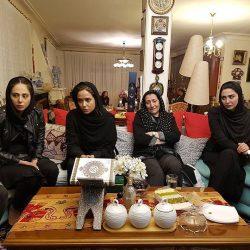 حضور بازیگران در منزل مرحوم علی معلم / عکس