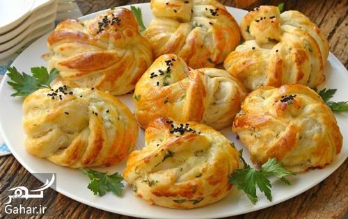 بقچه پنیر و سبزی طرز تهیه بقچه پنیر و سبزی برای عصرانه