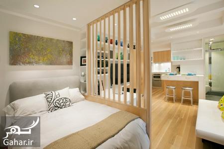 ترکیب اتاق خواب و پذیرایی آموزش ترکیب اتاق خواب و پذیرایی در خانه های کوچک