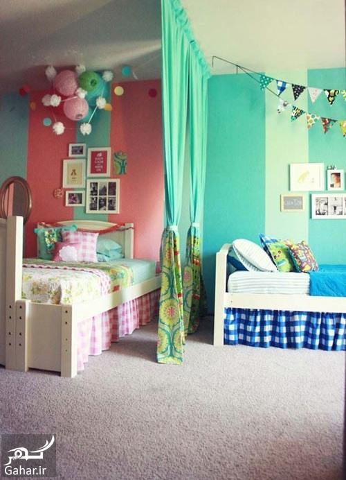 دکوراسیون اتاق مشترک 1 دکوراسیون اتاق مشترک فرزندان در خانه های کوچک